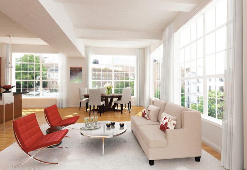 Livingroom - 9 College Place Condominiums for Sale in Brooklyn