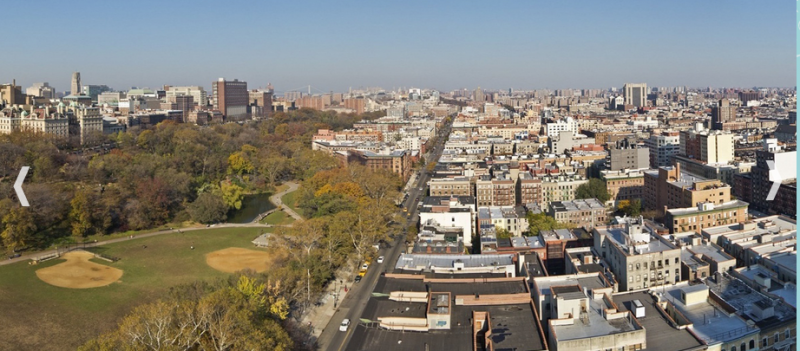 Panoramic View from 240 Manhattan Avenue Building