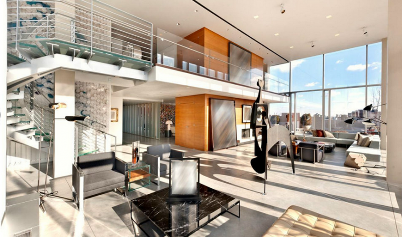 Sky Loft Condominiums at 145 Hudson Street - Living Room Penthouse