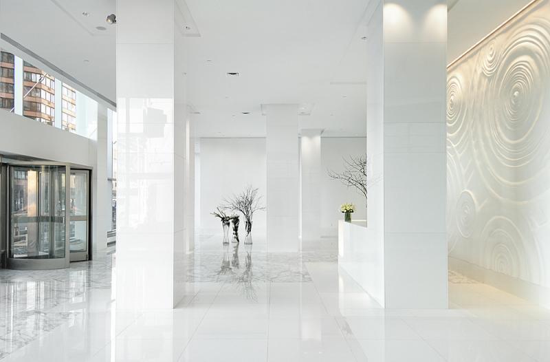 The Atelier Lobby - Midtown West NYC Condominiums