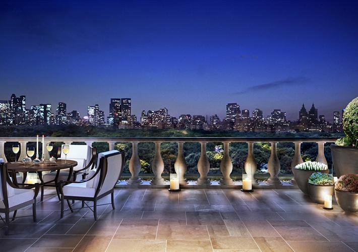 The Stanhope View at Night - NYC Condos