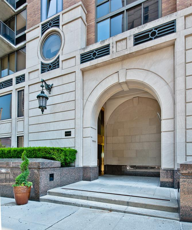 The Building's Entry at 161 West 61st Street in NYC