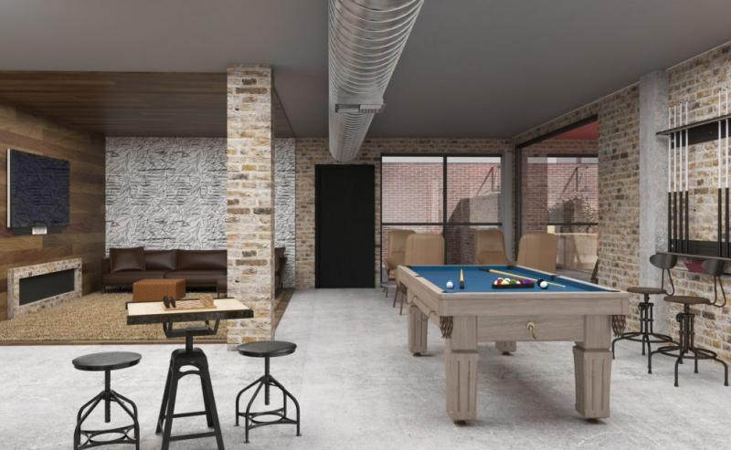 Lounge at The Decker in NYC - Apartments for sale