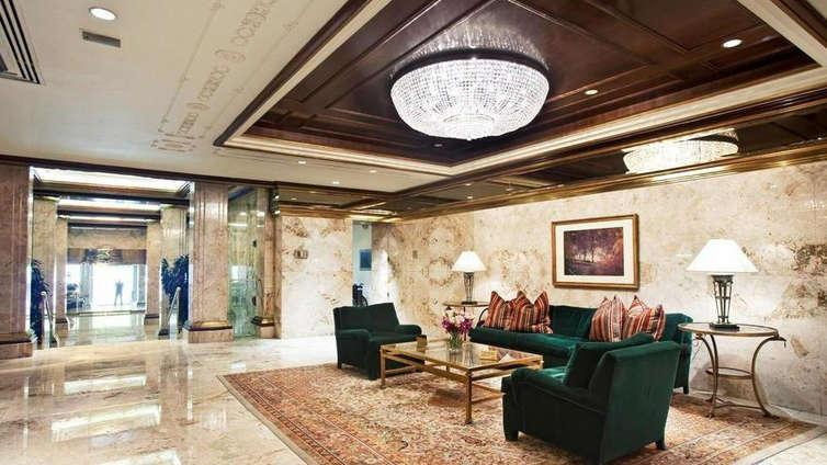 The Building's Lobby at 106 Central Park South in NYC