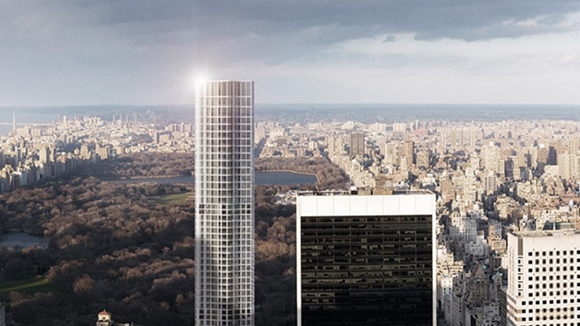 New rendering of 1 Park Lane luxury residential condominium in Manhattan
