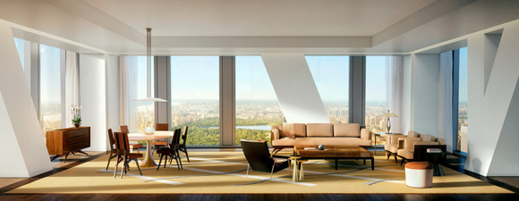 53W53 MoMA Tower Interior Rendering