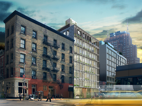 Rendering of 325 West Broadway, aka XOCO 325, a luxury condo development in Soho, Manhattan.