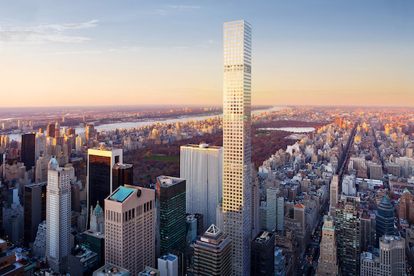 Rendering of 432 Park Avenue, a luxury condo development in Manhattan