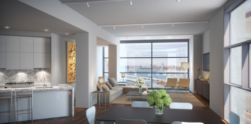 Rendering of penthouse in 471 Washington St.
