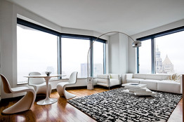A newly constructed luxury apartment in lower Manhattan