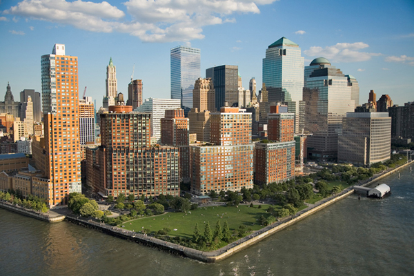 A view of Battery Park City