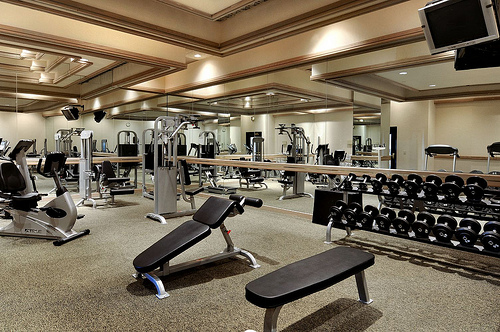 On-site fitness center in luxury Manhattan condos