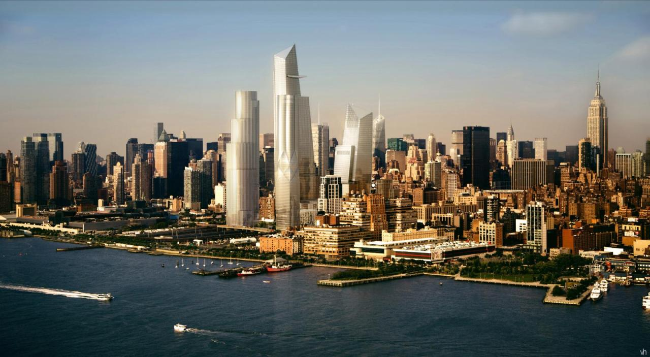 What the Hudson Yards is supposedly going to look like once completed.