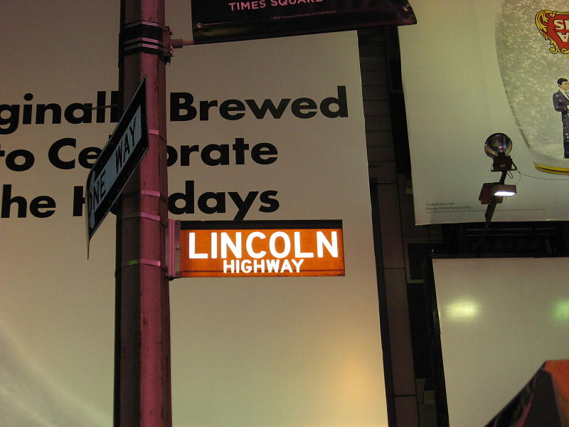Lincoln Highway Marker Times Square