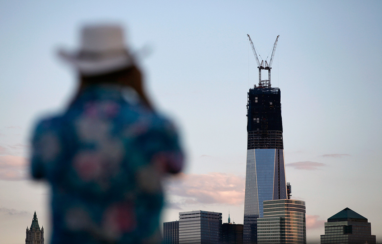 The Freedom Tower rising in Lower Manhattan