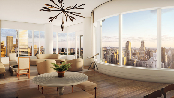 Panoramic views from 252 East 57th Street luxury condos
