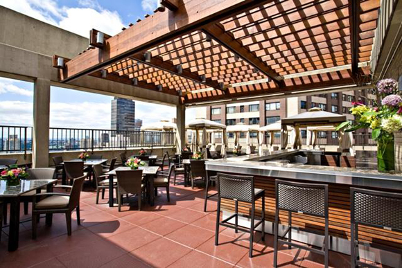 Rooftop terrace at 30 Lincoln Plaza