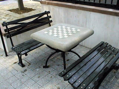 St Catherine's Park Chess Table