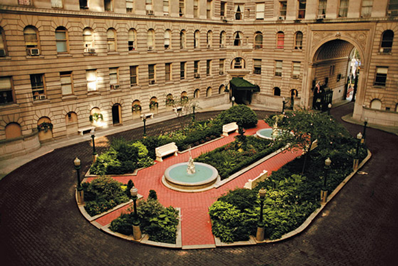 View of The Apthorp's famous courtyard.