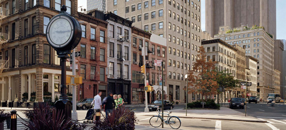 Streetscape In TriBeCa